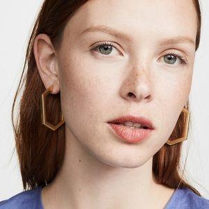 NWT Baublebar gold hoop earrings